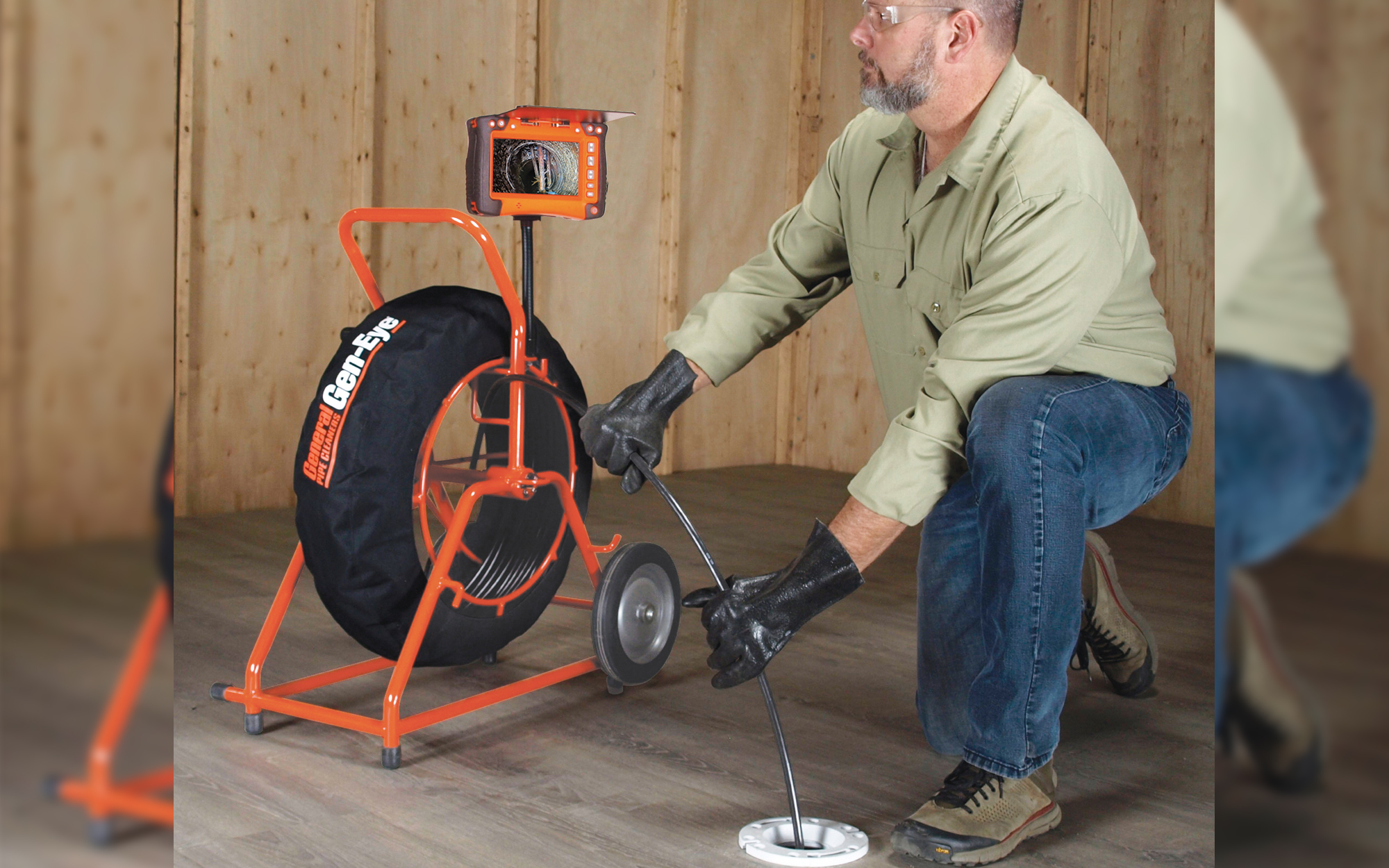Gen-Eye Sewer Cameras From General Pipe Cleaners Now Include Rugged New Reel Cage Cover