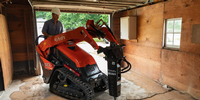 New Attachments Now Available for Kubota's SCL1000 Stand-On Track Loader